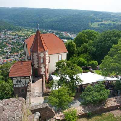 Das Kommandantenhaus auf dem Dilsberg, heute Kulturhaus des Rhein-Neckar-Kreises
