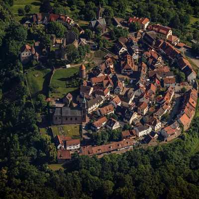 Dilsberg, Luftbildaufnahme