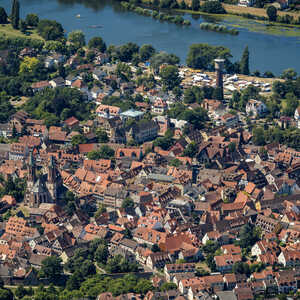 Luftbildaufnahme, Ladenburg